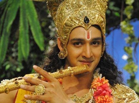 Mahabharat TV Serial All Characters Real Names With Photographs : Lord Krishna real name is Saurabh Raj Jain