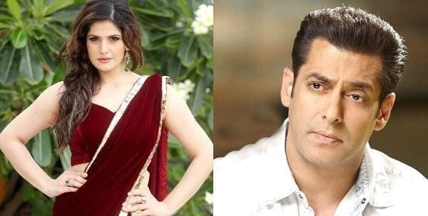 Zarine Khan with Salman Khan