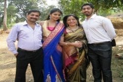 Pooja Hedge Family Photo