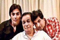 Kader Khan Family Photo