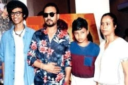 Irrfan Khan Family Photo