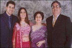Aftab Shivdasani Family Photo