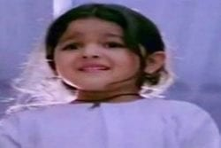 Alia Bhatt Childhood Photo