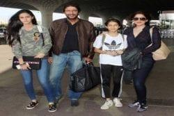 Chunky Pandey Family Photo