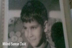Milind Soman Childhood Photo