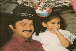 Sonam Kapoor Childhood Photo