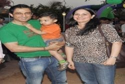 Sanjay Suri Family Photo