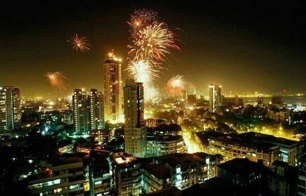 New Year Fireworks in Mumbai