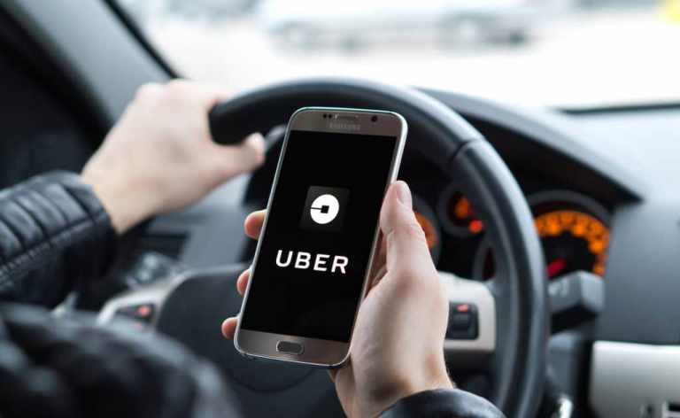 Uber or Lyft driver has an accident