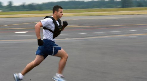 running with a weight vest